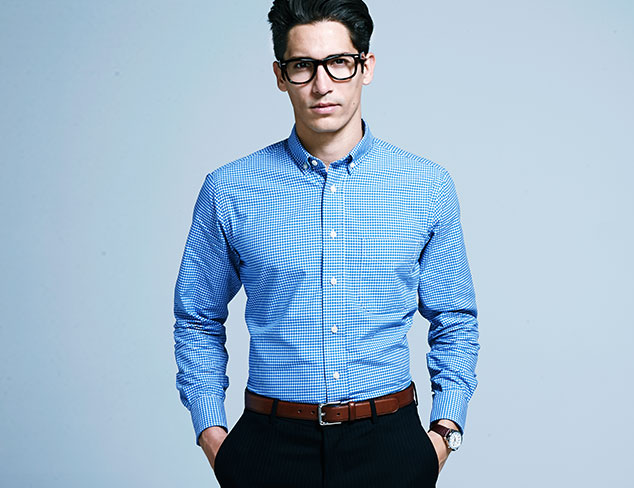 Gitman Blue Shirting at MYHABIT