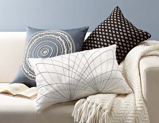 Hand-Embellished Throw Pillows at MYHABIT