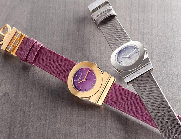 Italian Designer Watches feat. Ferragamo at MYHABIT