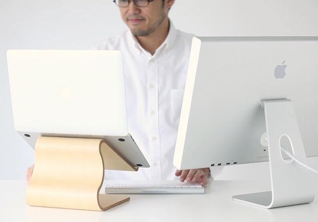 MOKU Woodware Desktop Stool Laptop Stand_4