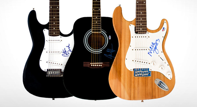 New Dimensions: Autographed Guitars & More at Gilt