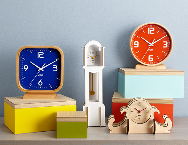 Wolf Designs Clocks, Watch Winders & Storage at MYHABIT