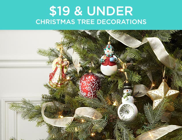 $19 & Under: Christmas Tree Decorations at MYHABIT