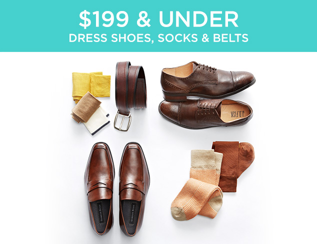 $199 & Under: Dress Shoes, Socks & Belts at MYHABIT