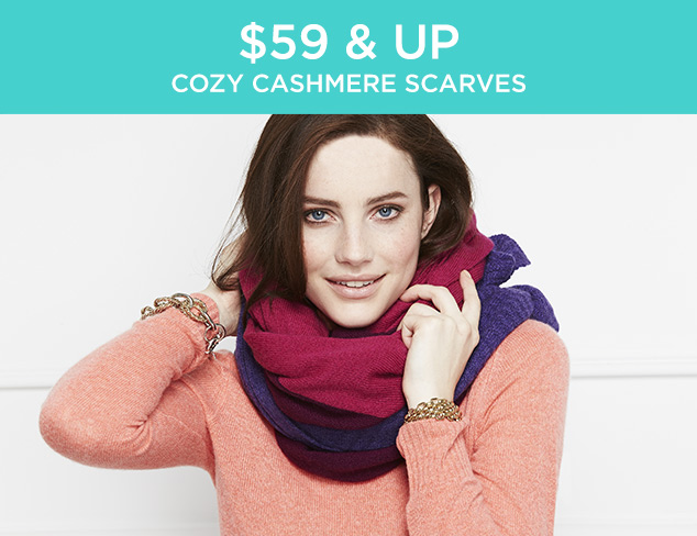 $59 & Up: Cozy Cashmere Scarves at MYHABIT