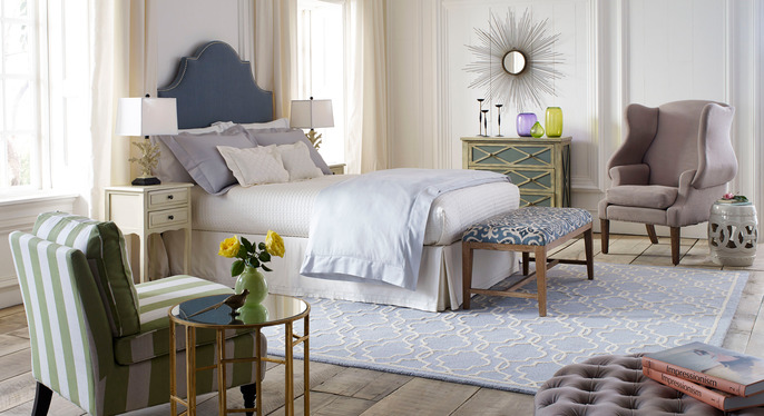 A Touch of Glam: Furniture & Accents at Gilt