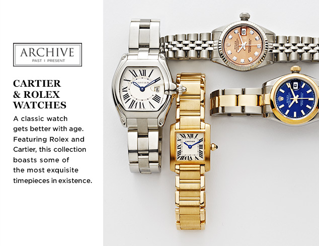 ARCHIVE: Cartier & Rolex Watches at MYHABIT