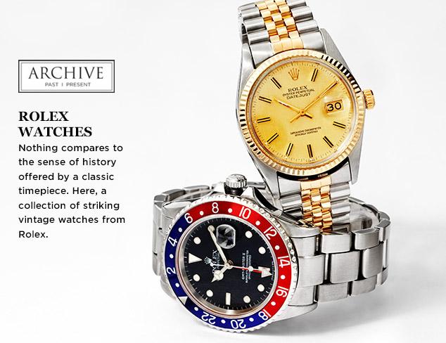 ARCHIVE: Rolex Watches at MYHABIT