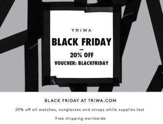 Best Deals: Black Friday 20% Off at TRIWA.COM