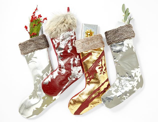 Luxe Holiday Stockings by Aviva Stanoff at MYHABIT