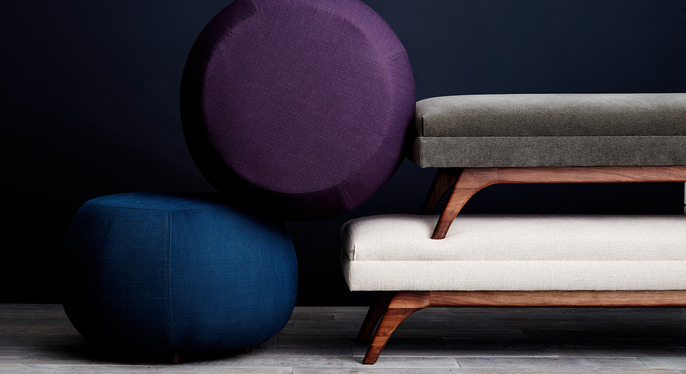 Ottomans & Benches at Gilt