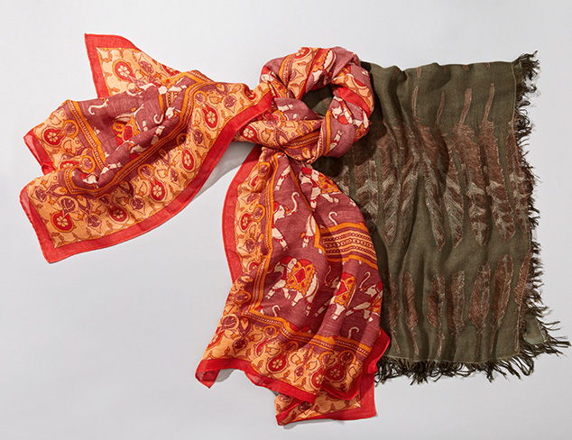 Printed Scarves from Theodora & Callum at MYHABIT