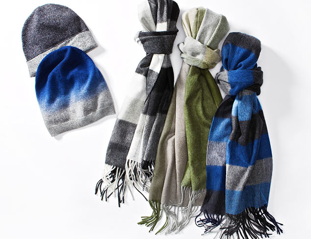 Qi Cashmere Accessories at MYHABIT