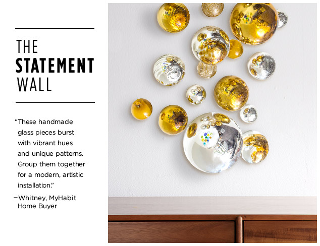 The Statement Wall: Glass Spheres & Wall Vases at MYHABIT