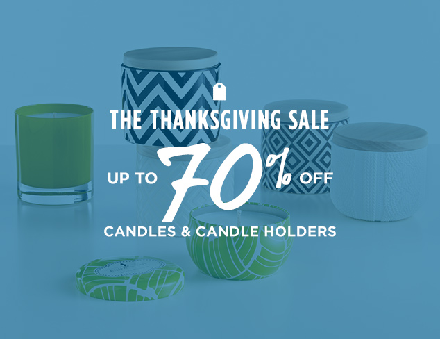 Up to 70% Off: Candles & Candle Holders at MYHABIT