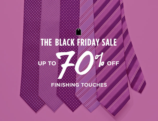 Up to 70% Off: Finishing Touches at MYHABIT