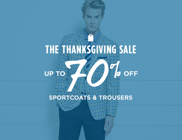Up to 70% Off: Sportcoats & Trousers at MYHABIT