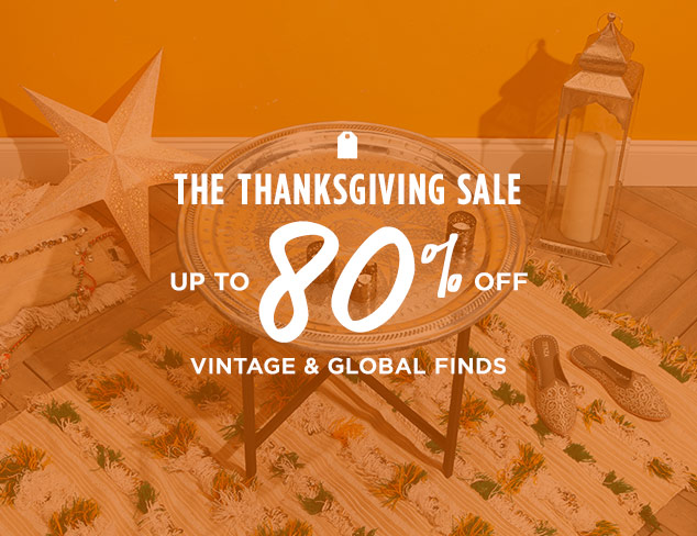 Up to 80% Off: Vintage & Global Finds at MYHABIT