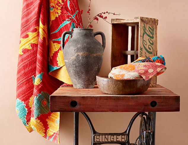 Vintage Finds: Kanthas, Throws & More at MYHABIT