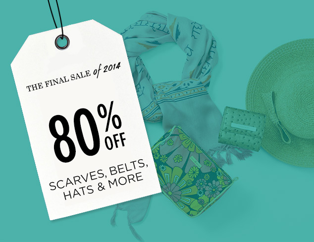 80% Off: Scarves, Belts, Hats & More at MYHABIT