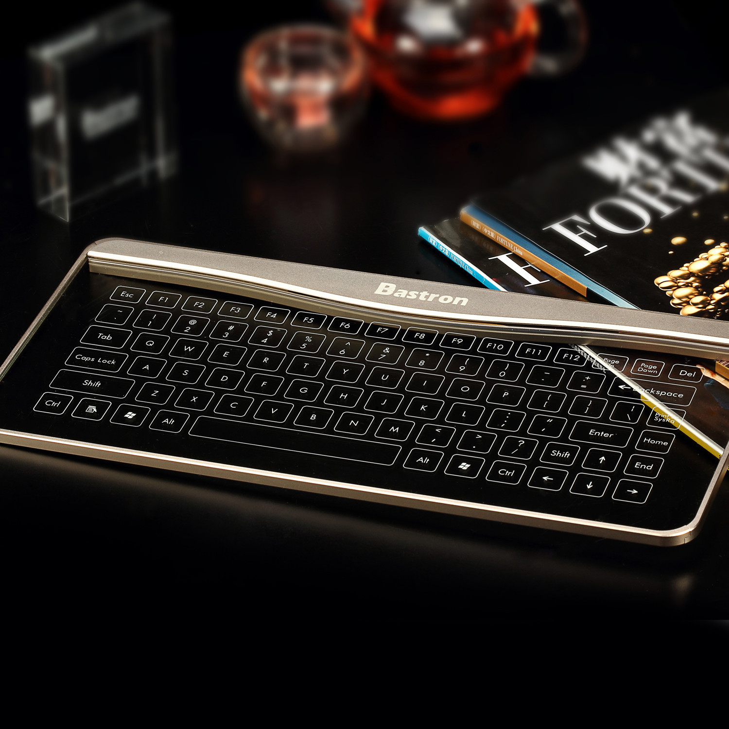 Bastron Glass Touch Smart Keyboard