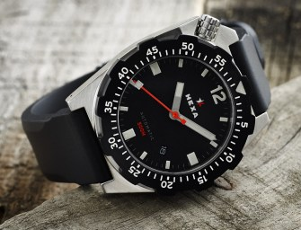 HEXA K500 Premier Edition Dive Watch – Brushed Stainless with PVD Bezel
