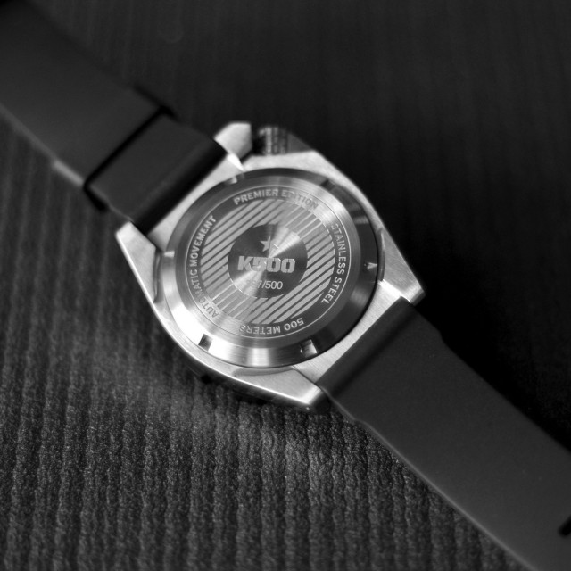 HEXA K500 Premier Edition Dive Watch - Brushed Stainless with PVD Bezel