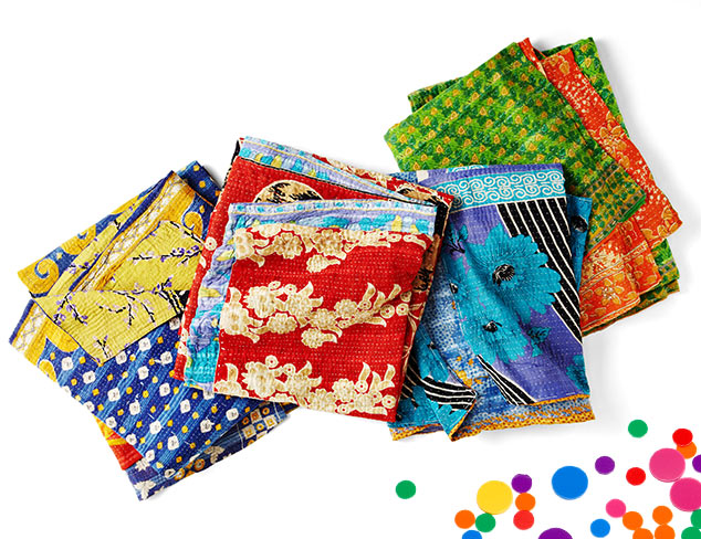 Vintage Kantha Quilts at MYHABIT