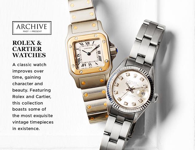 ARCHIVE: Rolex & Cartier Watches at MYHABIT