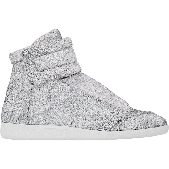 Maison Martin Margiela Cracked Leather Ankle-Strap Sneakers_2