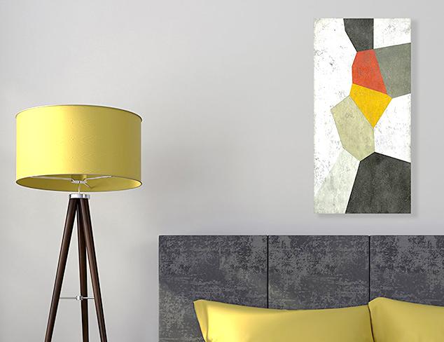 Abstract Art on Birchwood & Canvas at MYHABIT