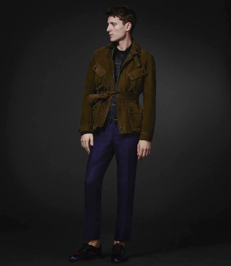 Burberry XO Barneys New York Nubuck Belted Field Jacket