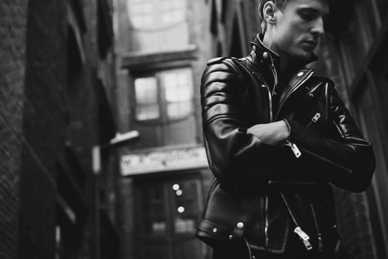 Burberry XO Barneys New York Quilted-Panel Moto Jacket