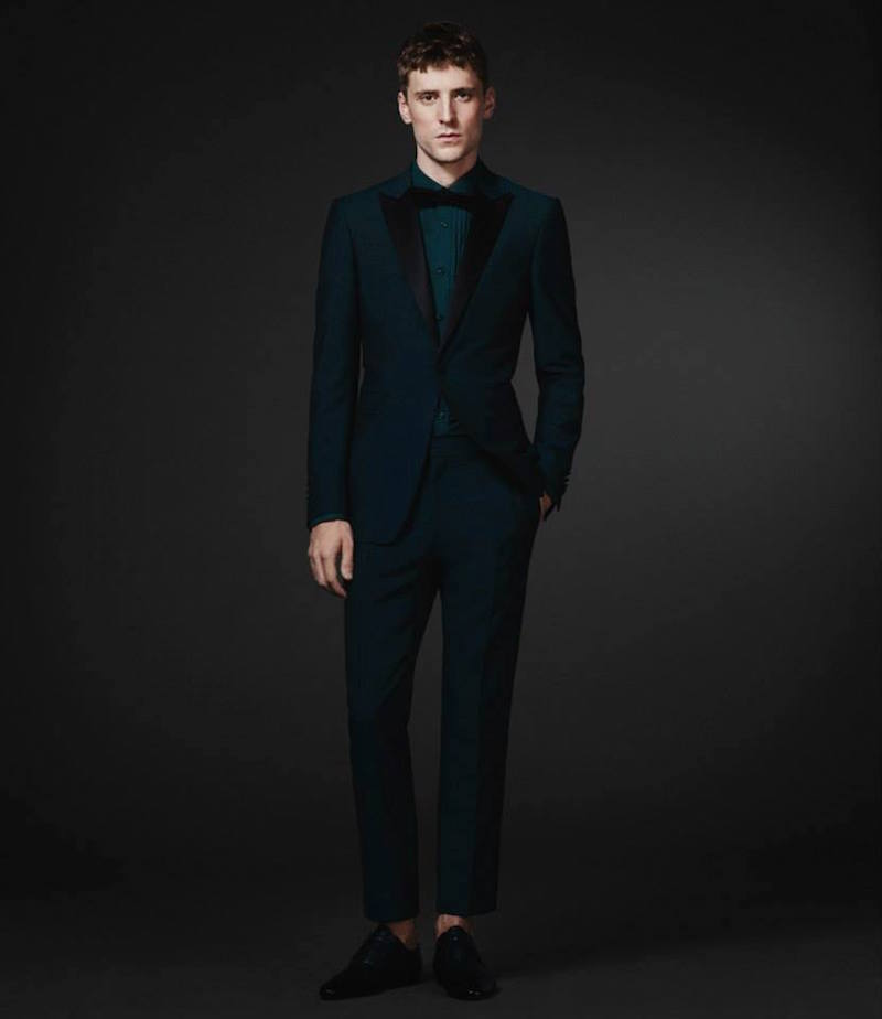 Burberry XO Barneys New York Satin-Lapel Single-Button Sportcoat
