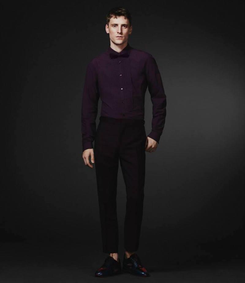 Burberry XO Barneys New York Tuxedo Stripe Trousers