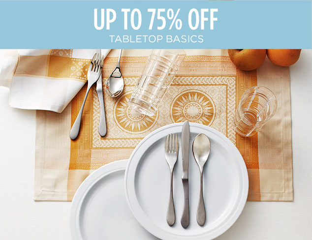 Up to 75% Off: Tabletop Basics at MYHABIT