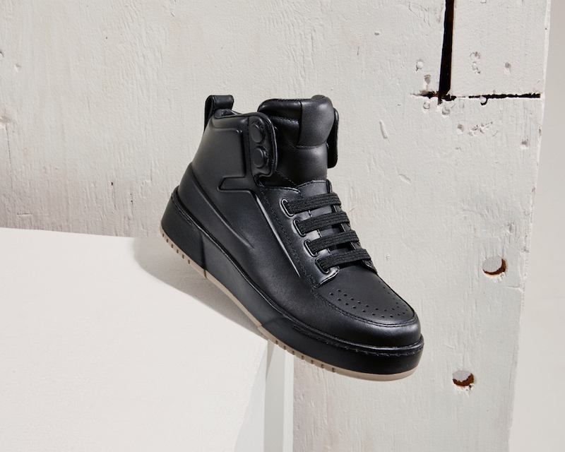 3.1 Phillip Lim Buffed Leather High-Top Sneakers