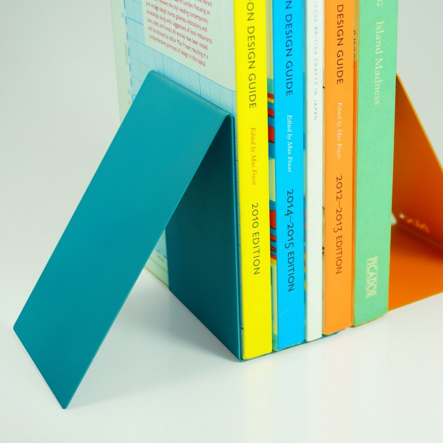 Block Designs Bookend Pair