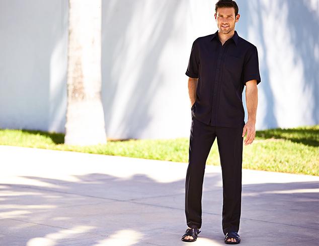 Cubavera Short Sleeve Fashion Rt Shirt