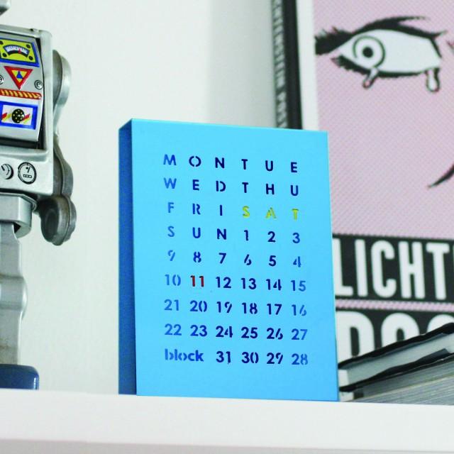 Block Designs Perpetual Calendar