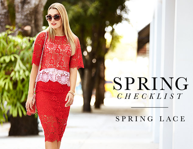Spring Checklist: A Little Lace at MYHABIT