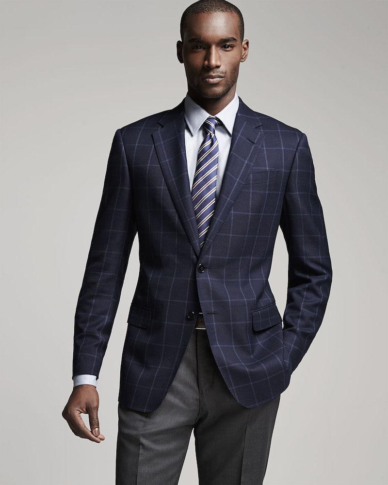 Armani Collezioni G-Line Windowpane Jacket