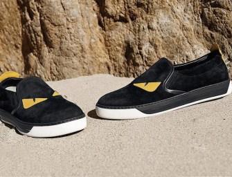 Fendi Monster Slip-On Sneakers