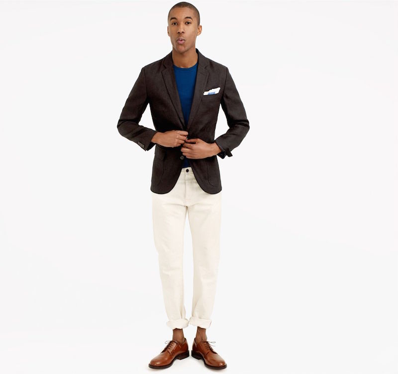 J.Crew Mens Ludlow Sportcoat In Herringbone Irish Linen