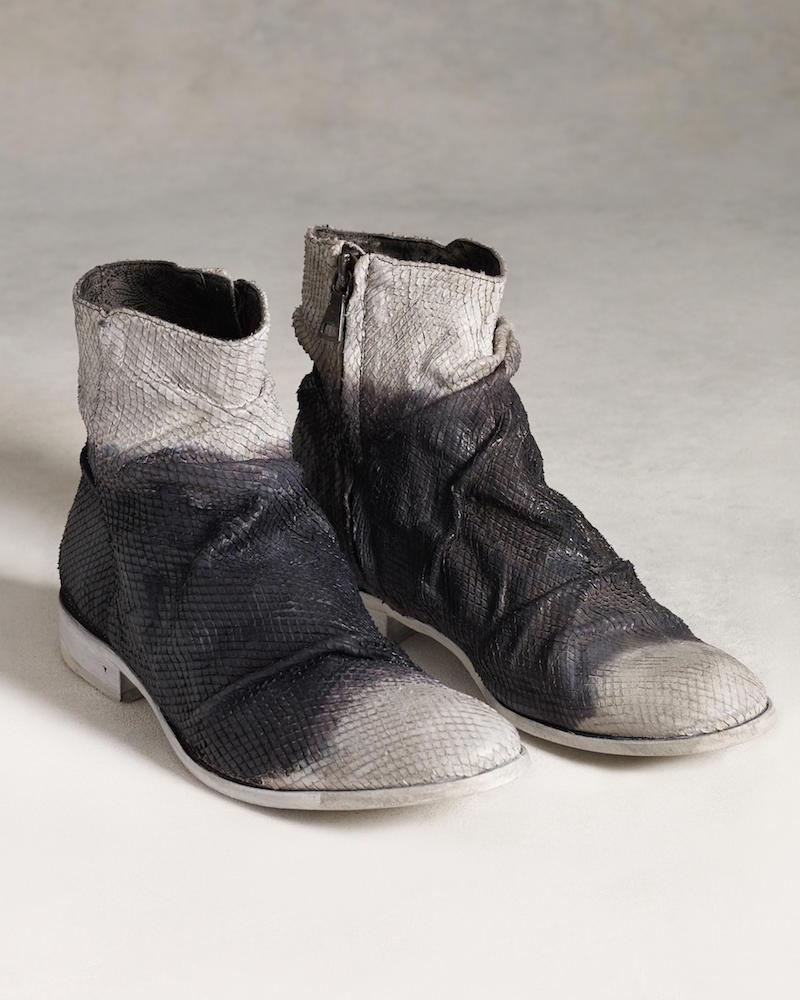 John Varvatos Richards Sharpei Boot in Black White