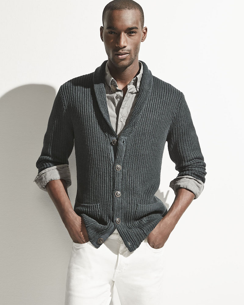 John Varvatos Star USA Shawl-Collar Knit Cardigan