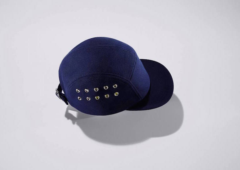 Larose Navy Cotton Five Panel Cap