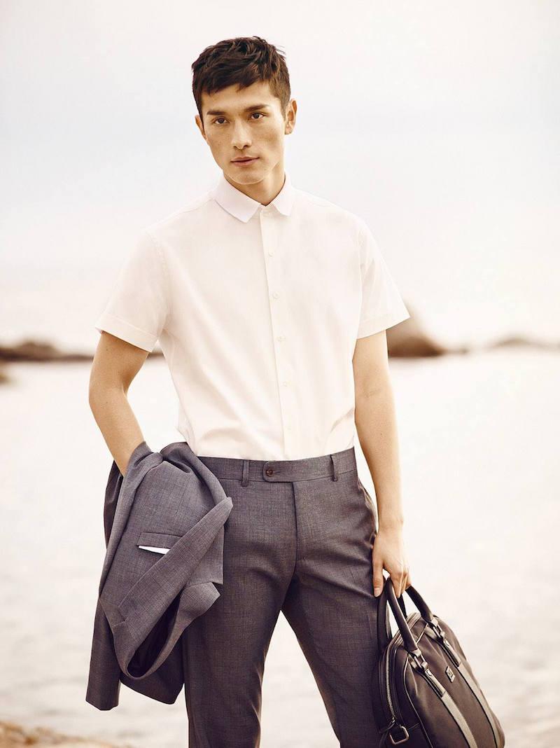 MANGO Slim-fit Short-sleeve Shirt