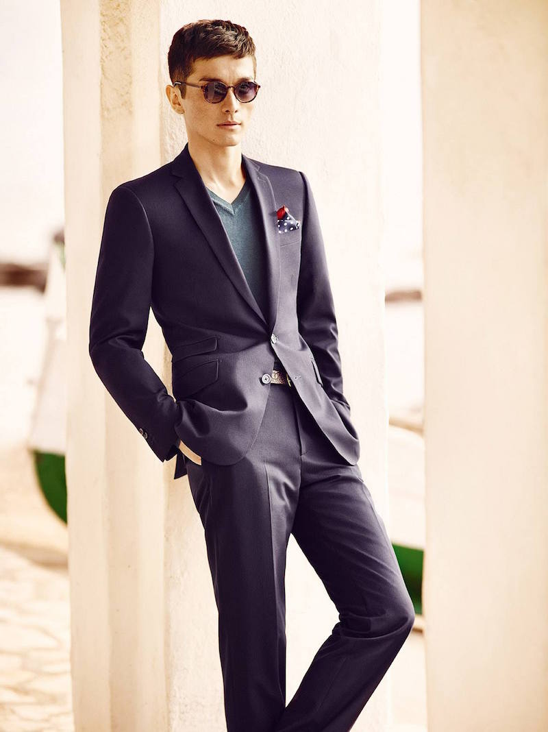 MANGO Tailored-fit Textured Suit Blazer