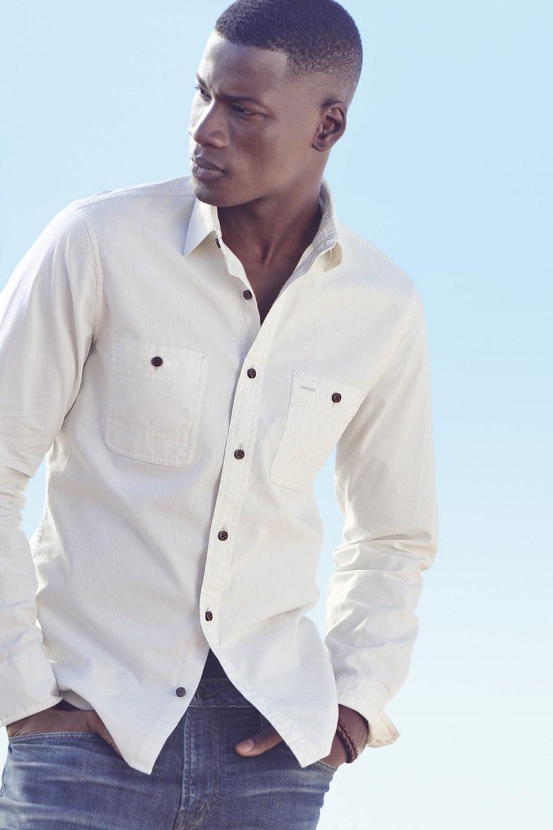 Wallin & Bros. Workwear Trim Fit Chambray Sport Shirt